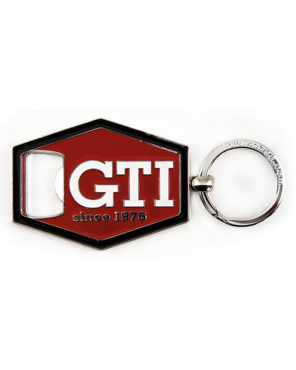 GTI Bottle Opener Keyring in Red with a Black Trim