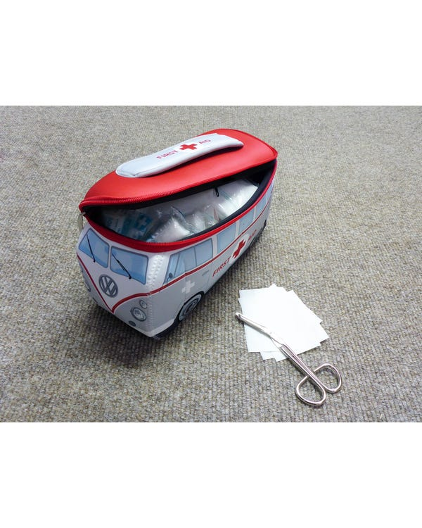 VW Splitscreen Neoprene Bag with a First Aid Kit Inside