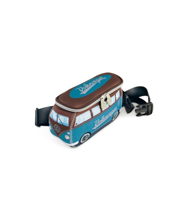 VW Splitscreen Neoprene Bum Bag in Blue and Brown