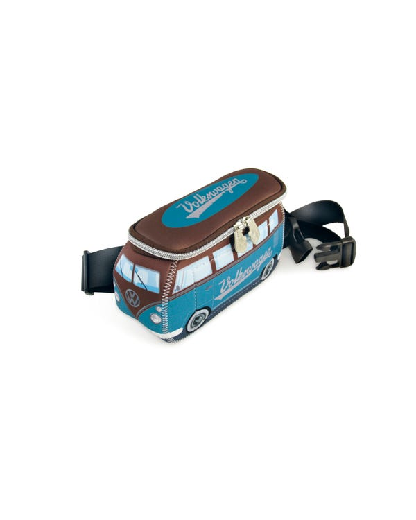 VW Splitscreen Neoprene Bum Bag in Blue and Brown