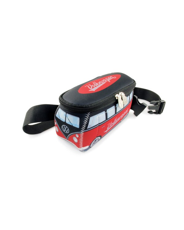 VW Splitscreen Neoprene Bum Bag in Red and Black