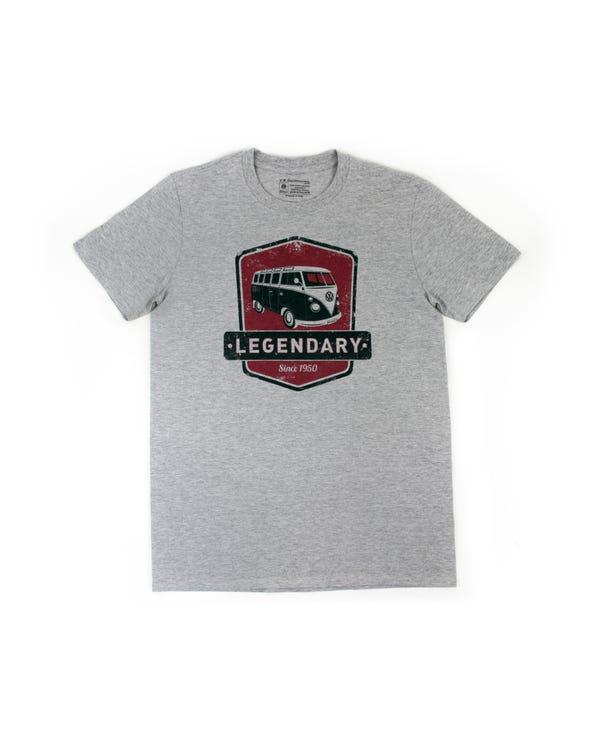 Camiseta en gris con un motivo rojo Splitscreen VW, L