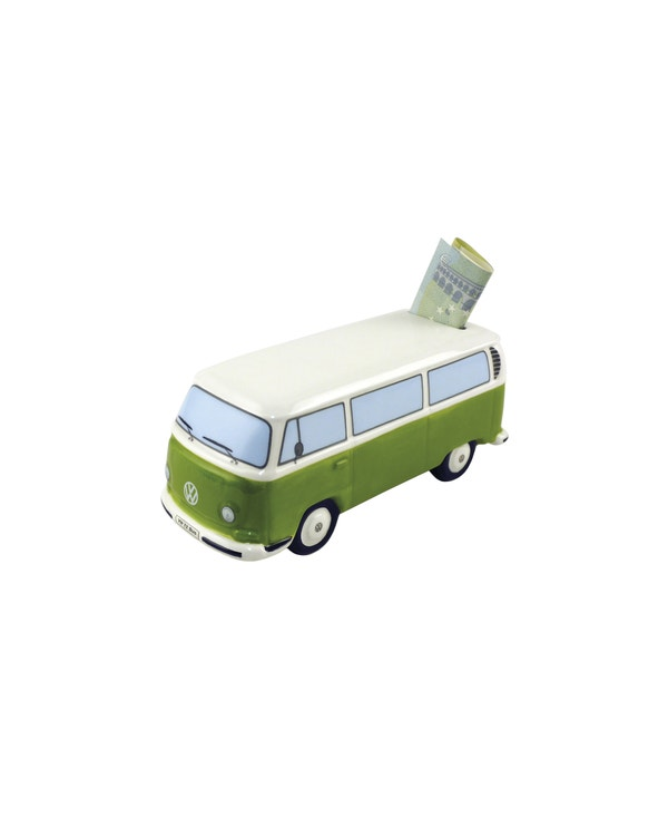 Baywindow Money Saving Box in Green and White