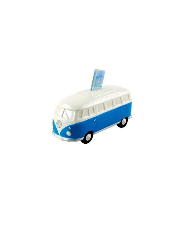 Splitscreen Money Saving Box in Blue and White