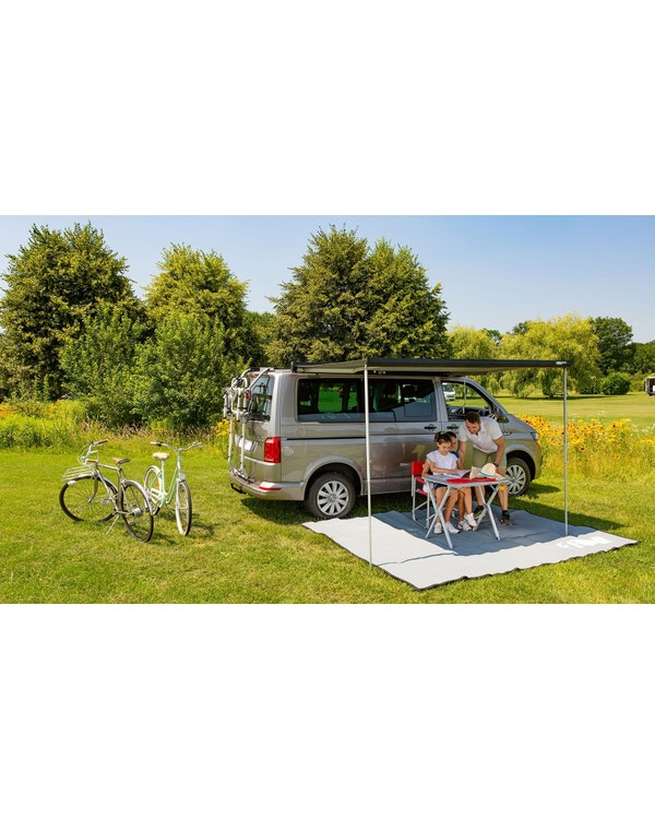 Fiamma F45S 260 Roll Out Awning For Multivan RHD In Deep Black/Grey inc Adapters