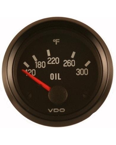 VDO Cockpit Oil Temperature Gauge 300F 52mm Black