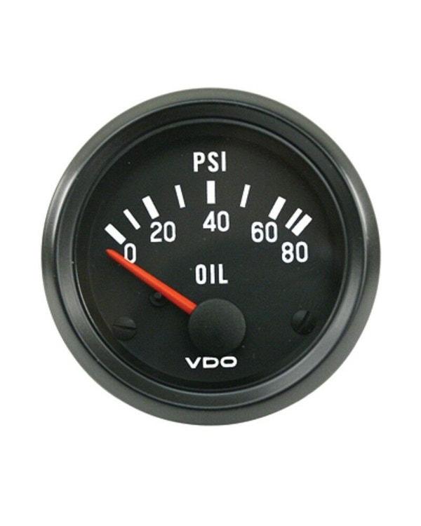 VDO Cockpit Oil Pressure Gauge 80PSI 52mm Black