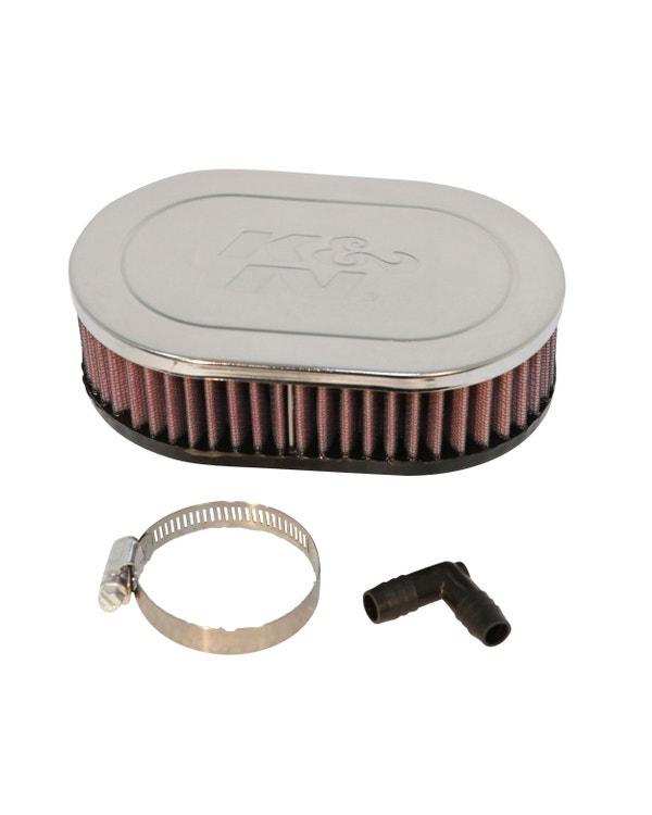K&N Luftfilter, angeschraubt, für 1.1-1.6, mit Solex/PICT