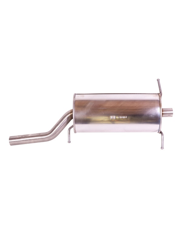 Rear Stainless Steel Exhaust Silencer for Models with Clipper Kit