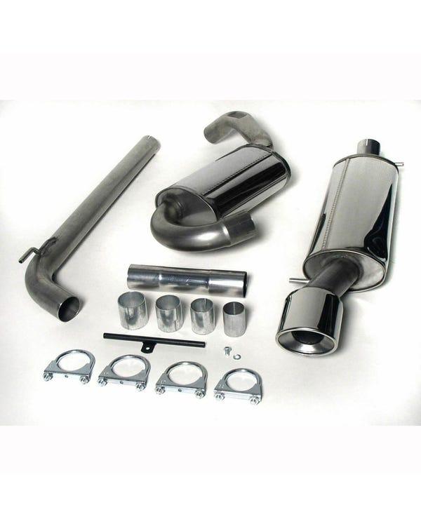 Sistema de escape trasero con catalizador de acero inoxidable Jetex con tubo ovalado individual