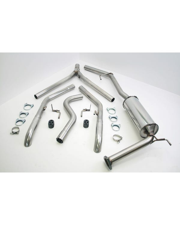 Stainless Steel Exhaust with Twin Single Turndown Tailpipes for Long Wheelbase