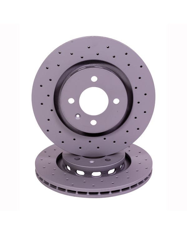 Sport Cross-Drilled Vented Front Brake Discs 280x22mm