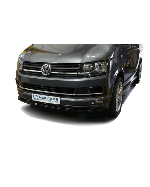 Splitter, Front, Gloss Black, ABS Plastic, Standard Bumper