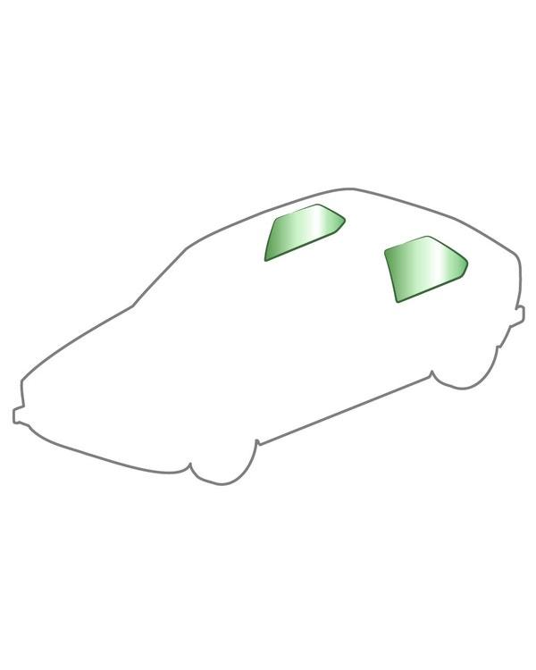 Rear Pop Out Quarter Window Kit Green