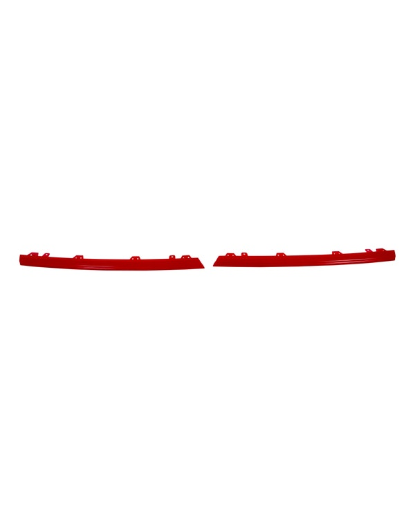 Grille Trims, Radiator Grille , 2 Piece Set, Gloss Red