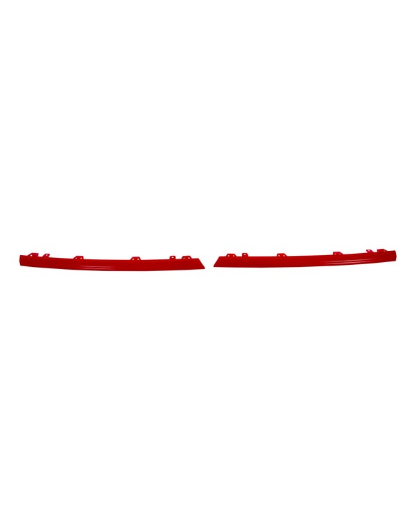 Radiator Grille Trim 2 Piece Set in Gloss Red