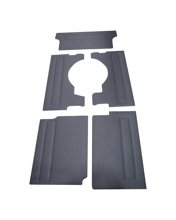 Innenverkleidungnverkleidungssatz, Modelle mit langem Radstand und Heckklappe, Linkslenker, graues Vinyl