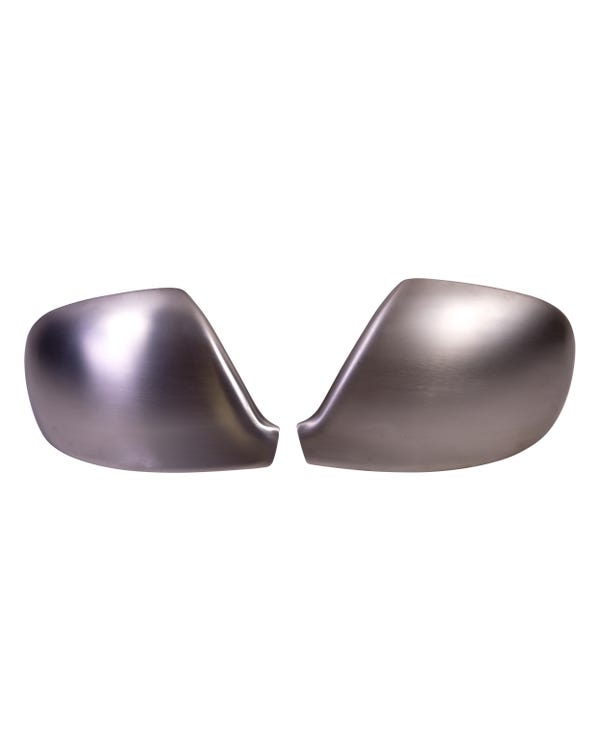 Matt Chrome Wing Mirror Covers for Right Hand Drive Vehicles