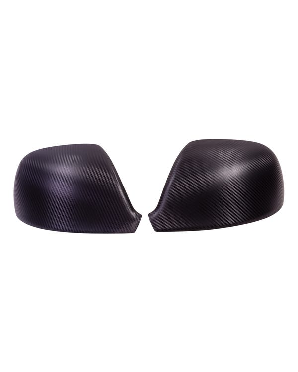 Carbon Effect Mirror Covers for Right Hand Drive Vehicles