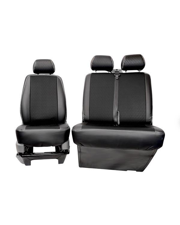 Fundas de asientos delanteros 2+1. Negro y gris
