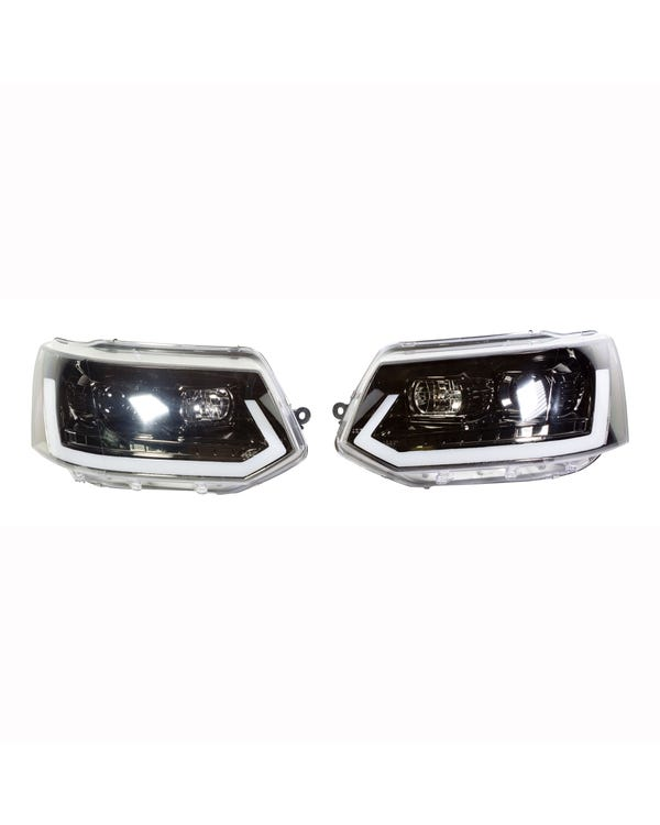 Headlights, LED Light Bar with Dynamic Flowing Indicators
