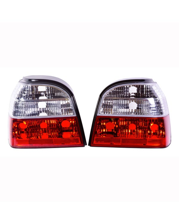 Rear light Set, Crystal Clear and Red