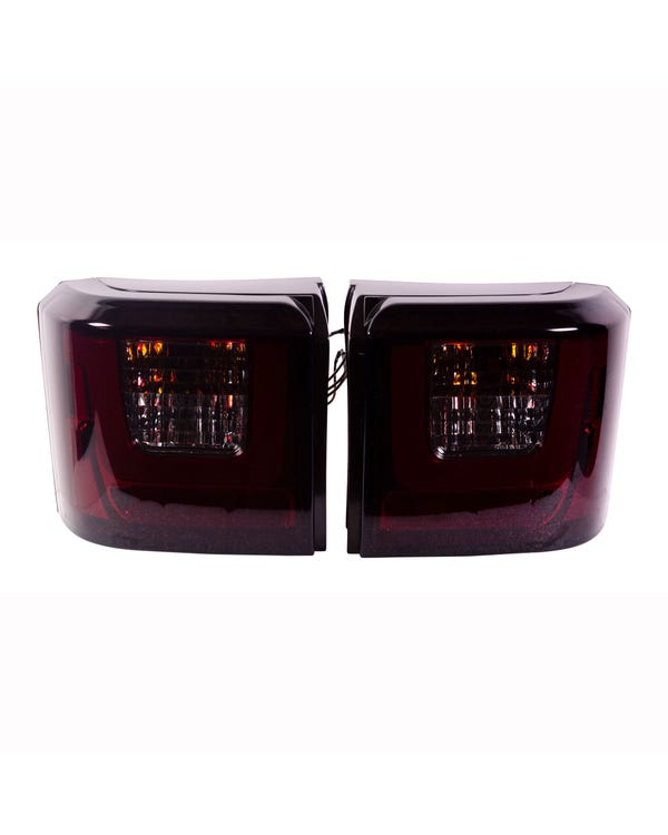Rear Lights, LED Light Bar Style, Red & Smoked Lens
