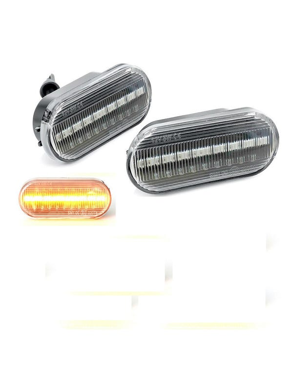 LED Clear Side Repeater Light Bar Design Pair