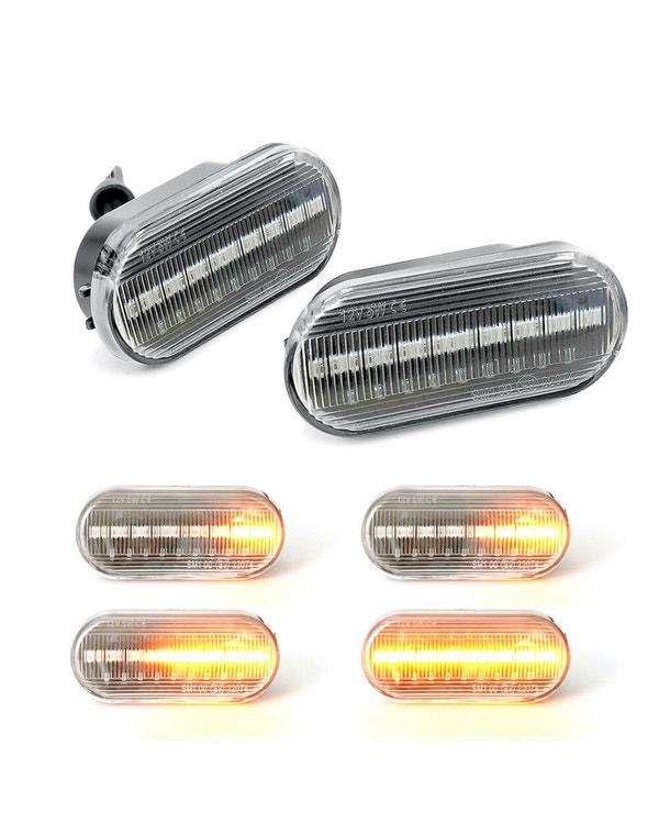 Repetidor lateral LED transparente. Pareja