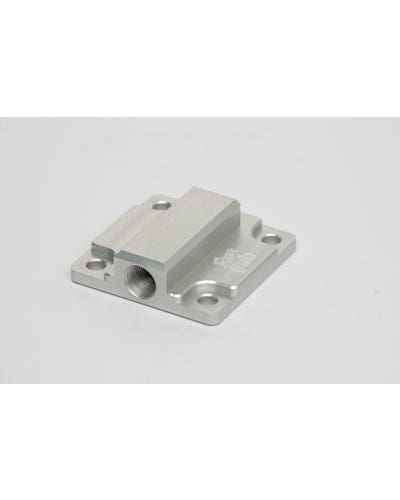 Oil Pump Cover 1200-1600cc Silver Anodised with Full Flow Outlet