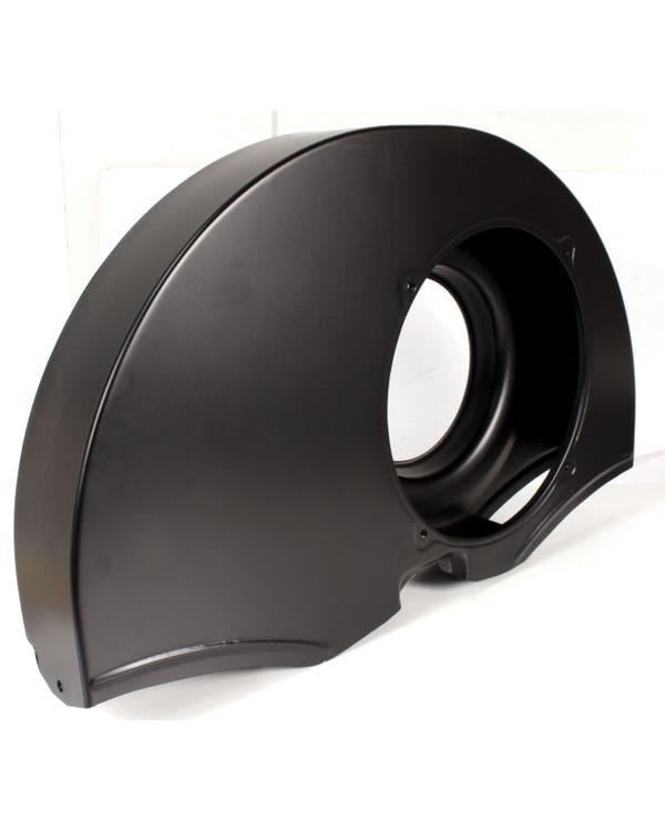 Kühlerhutze ohne Luftauslässen, einzelner Anschluss, schwarz