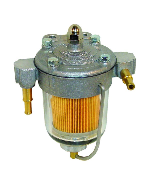Filter King Fuel Filter with 67mm Glass Bowl and 6/8mm Unions