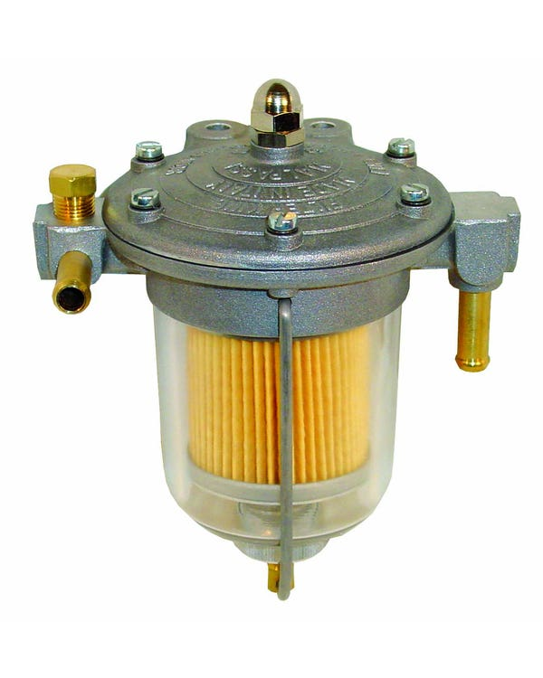 Filter King Fuel Filter with 85mm Glass Bowl and 8mm Unions