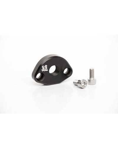 Fuel Pump Block Off with Breather, Black