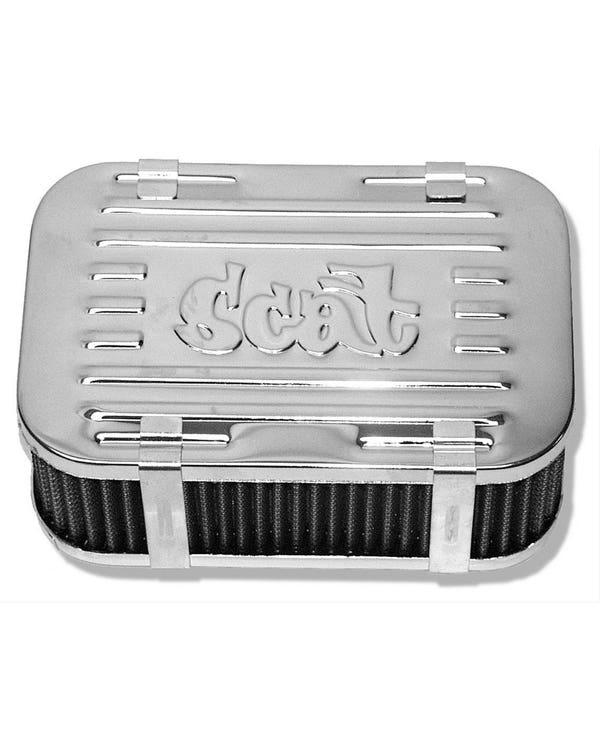 Scat Chrome Aluminium Air Filter Assembly for Solex Carburettor
