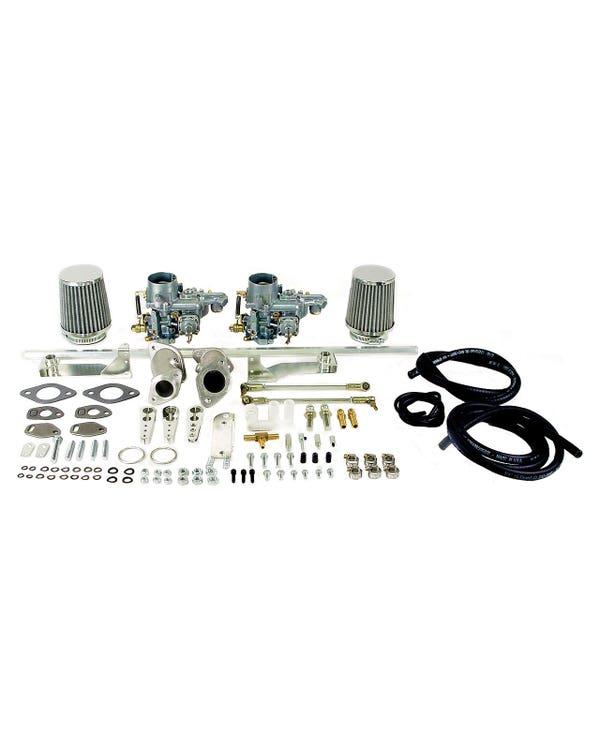 Kit doble carburador EMPI 34ICT. Motores Simple admisión