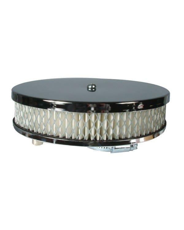 Air Filter - Chrome/Paper Pancake Style
