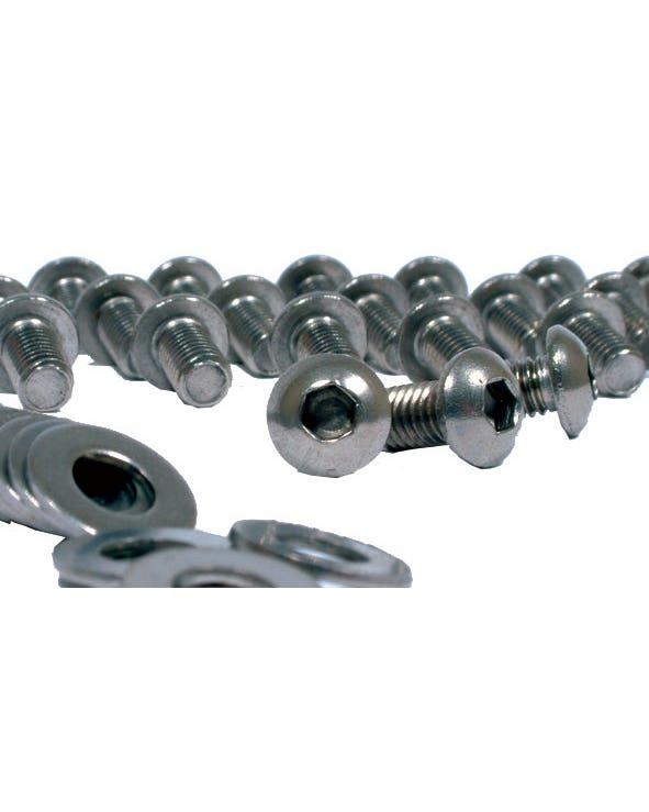 Stainless Steel Tinware Screw 34 Piece Set Socket Head