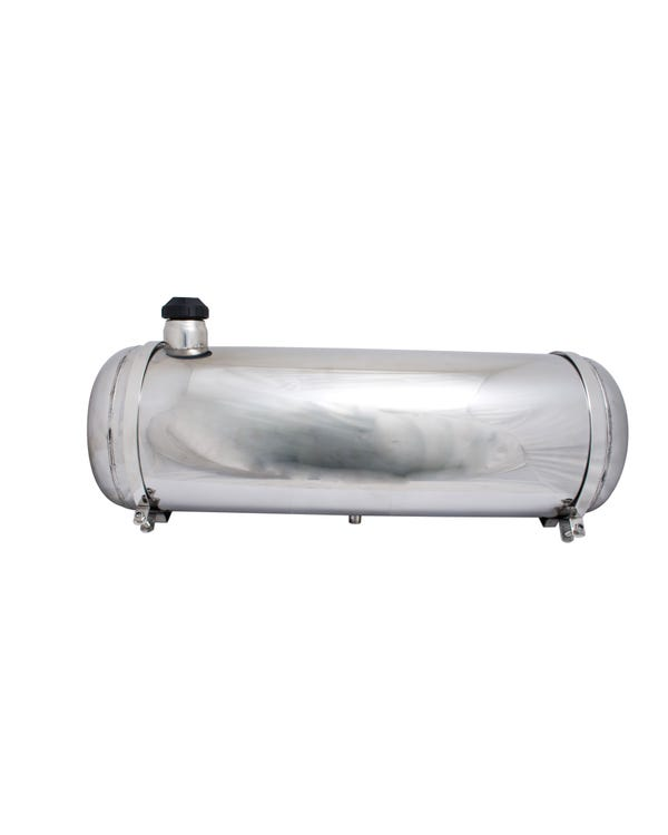 Cylindrical Polished Stainless Steel Fuel Tank 13.5 Gallon End Fill