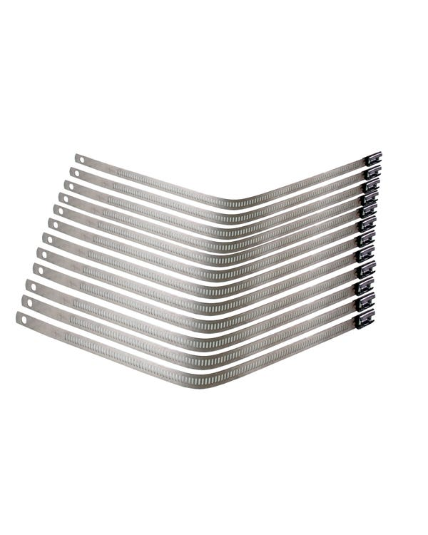 Thermoshield Stainless Snap Strap Kit 10x 300mm