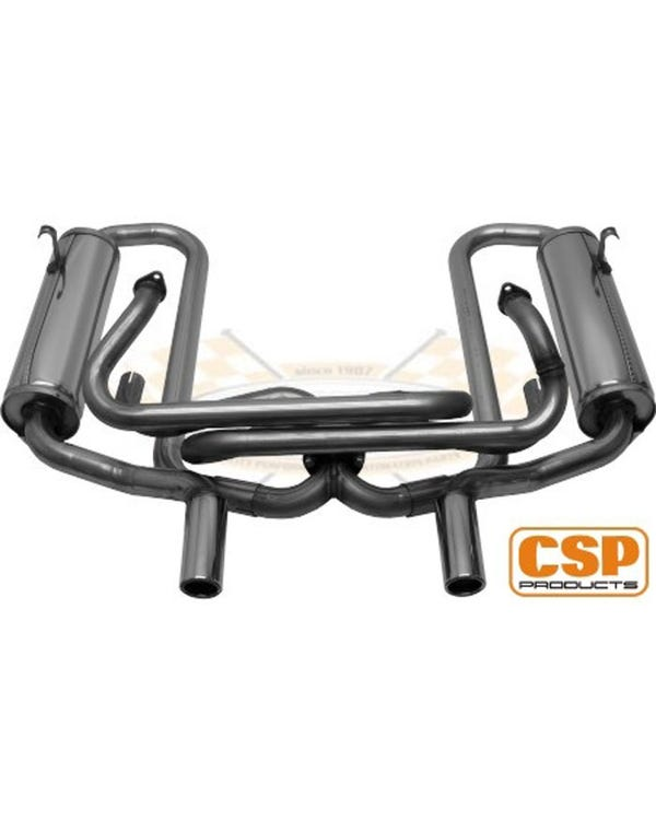CSP Competition Exhaust Stainless Steel 38mm with Heaters/Single Carb 13-1600cc