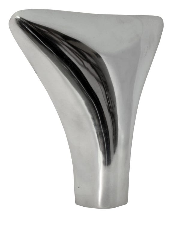 Polished Alloy Exhaust Sharks Tail  Pipe Trim