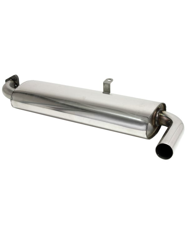 Stainless Steel Single Quiet Pack Exhaust Silencer