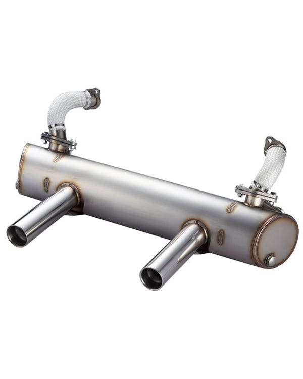 Vintage Speed Stainless Steel Super Flow Exhaust System up to 150bhp