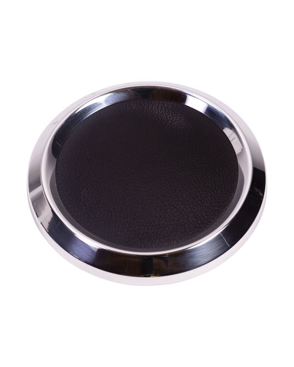 Pulsador claxon negro/cromado grande. Volante SSP 9 tornillos