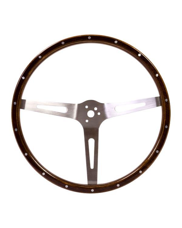 SSP 3-Slot Mahogany Steering Wheel 380m 3 Bolt