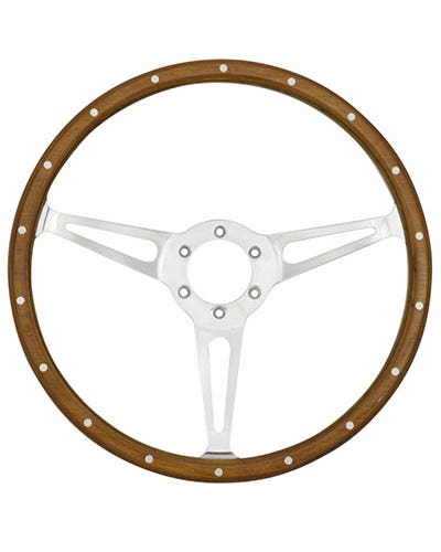 SSP 3-Slot Mahogany Steering Wheel 380mm 6 Bolt