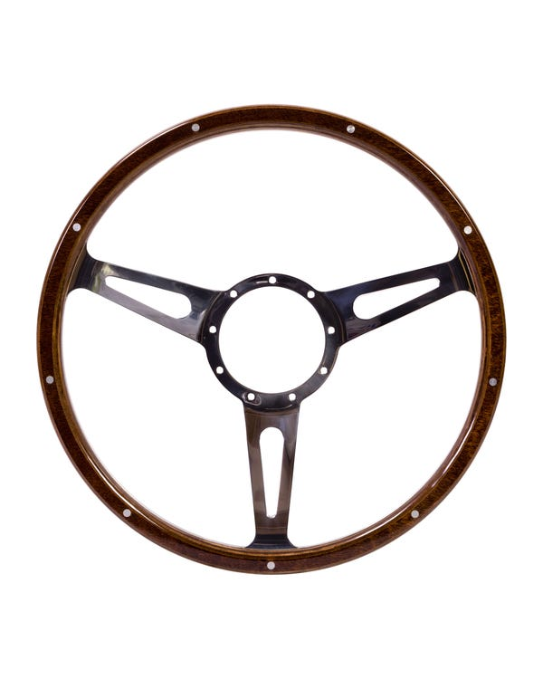 SSP 3-Slot Mahogany Steering Wheel 380mm 9 Bolt