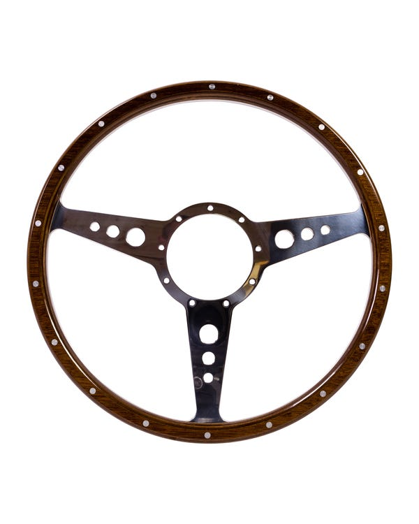 SSP 9-Hole Mahogany Steering Wheel 380mm 9 Bolt