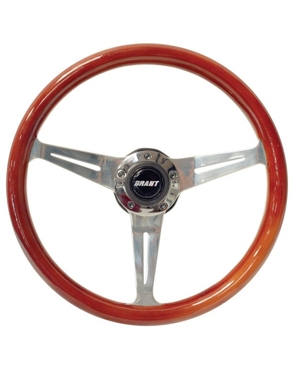 Grant Wood Rim Steering Wheel 14.5'' with 3'' Dish